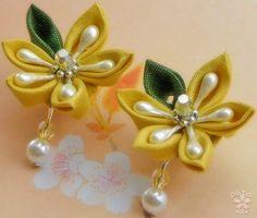 Kanzashi Earrings! - JEWELRY AND TRINKETS