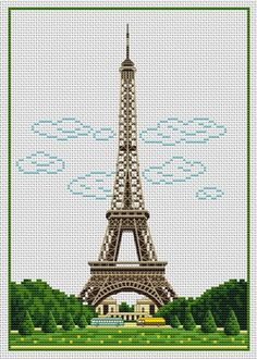 Eiffel Tower cross stitch    mom