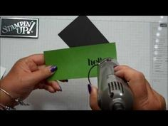 Adding Color to Embossing Folder - also shows a Christmas card using the SU Stylish Stripes E F