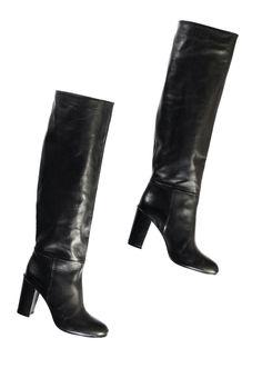177cbc92290b Rabard schoenen bl18. Zwarte lederen knielaarzen - Essentiel Antwerp Belgie