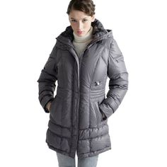 Jessie G. Women's Down Parka Coat with Removable Hood in Bla $99.99