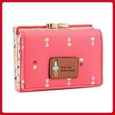 Damara Female Faux Leather Card Holder Mini Wallet Clutch,Watermelon - Wallets (*Amazon Partner-Link)