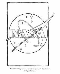 NASA Logo Coloring Page
