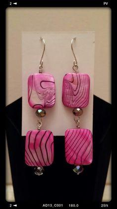 Handcrafted Wired Earrings #jewelry# Fuschia