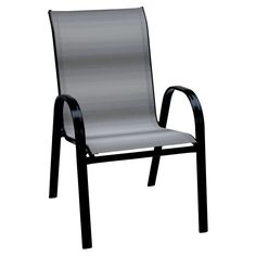Steel Sling Chair, Gray and Black Ombre
