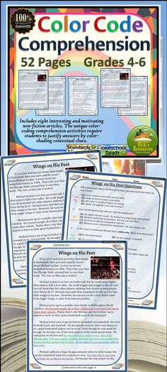 Reading Comprehension Color-Coding Text Evidence