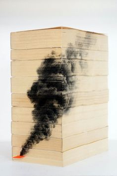 Pencil Drawings - Book Edges Diego Mallo