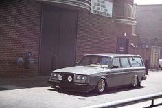 """thinkingbeyondborders: """"Volvo 240 wagon stanced """""""