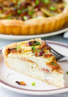 A sensational scalloped Irish Potato Pie with bacon and onions. Just the things to get your Irish eyes a'smiling!