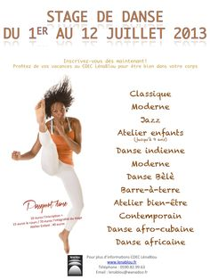 Start your holiday WITH STAGE DANCE CHARTS IN GUADELOUPE BLOU LENA!  See the article here: http://www.black-in.com/sorties-loisirs/evenement/ephemere/stage-de-danse-au-cdec-de-lena-blou/