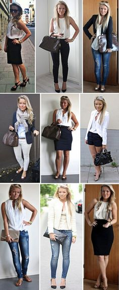 Love her comfy, chic and casual looks. Business casual