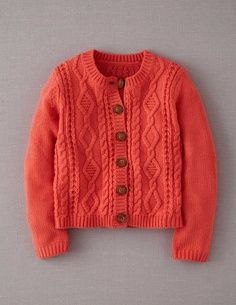 Cosy Cable Cardigan 31605 Knitwear at Boden Baby Cardigan Knitting Pattern, Baby Knitting Patterns, Knitting Designs, Cable Cardigan, Wrap Cardigan, Woolen Dresses, Knitting For Kids, Knitwear, Knit Crochet