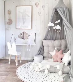 Inspiration pastel girls room ideas, pink and grey girls room design, girls kidsroom, kidsroom decor. Pastel Girls Room, Grey Girls Rooms, Little Girl Rooms, Pink Room, Kids Room For Girls, Girls Bedroom Pink, Childrens Bedrooms Girls, White Kids Room, Pastel Bedroom