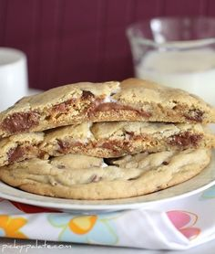 S'mores Stuffed Chocolate Chip Cookies...delicious, beautiful, and will add 12 inches to your waist :)   thank you picky-palate!