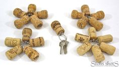 Champagne Cork and/or Beer Cork Keychains 76 count in by LMadeIt, $3.75