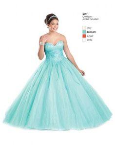 elegant tyll ballkole quinceanera kjoler