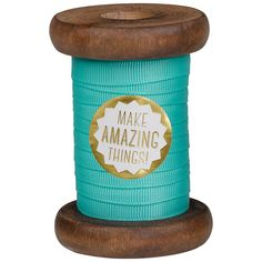 This neon turquoise grosgrain ribbon is lovely and bright! It's wound onto a beautiful wooden spool and sealed with a pretty 'Make Amazing Things' sticker. 3 metres of ribbon. Wild Wolf, Craft Kits, Grosgrain Ribbon, Drink Sleeves, Fun Crafts, Something To Do, Neon, Turquoise, Crafty