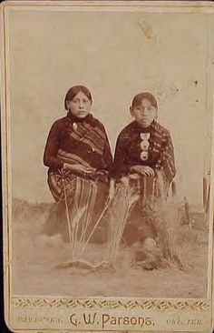 CORA POTTER  & ELDA POTTER  Native Americans Oklahoma Territory   by DeadFred.com, via Flickr