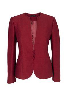 kırmızı Klasik Bayan Ceket Modelleri