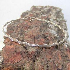 Cute, Dainty Sterling Silver Wire-Wrapped Bracelet