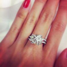 wavy rough diamond ring