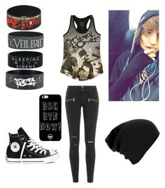 """I'm Not Trying To Impress The Cute Guy... Or Maybe I Am ; )"" by demonlover2002 on Polyvore featuring Paige Denim and Converse"