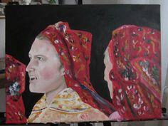 Horňácké zpěvačky - akryl painting