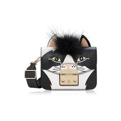 Furla Handbags Metropolis Jungle Cat Mini Crossbody Bag (23.375 RUB) ❤ liked on Polyvore featuring bags, handbags, shoulder bags, black, mini crossbody handbags, handbags shoulder bags, crossbody shoulder bag, furla crossbody and mini handbags