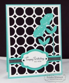 Bold & Retro HB Card by Kendra Wietstock #Cardmaking, #CutttingPlates, #Birthday