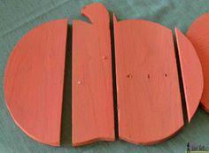 Rustic pallet pumpkin paint wood