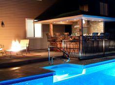 Pool House Ideas Backyard   Pool Patio Ideas - About Patio Designs, Contemporary Deck & Patio ...