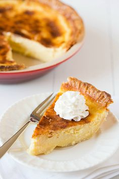 Buttermilk Pie - The caramelized sugar topping that looks like creme brûlée is to-die-for!
