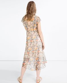 DRESS WITH LACE AND FRILL-View All-DRESSES-WOMAN | ZARA United States