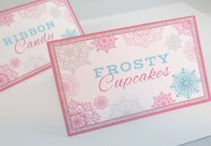 Food Labels Burlap Diamonds Pink Teal Country Birthday Ideas for Girls Winter Party Winter ONEderland