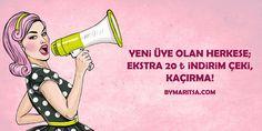 YENİ ÜYE OLAN HERKESE 20tl İNDİRİM! ByMaritsa.com #vintage #retro #moda #giyim #kadıngiyim #kadınmoda  #kadın #vintagegiyim #retrogiyim #bymaritsa #eticaret #onlinealışveriş #elbise #kıyafet #gözlük #ayakkabı
