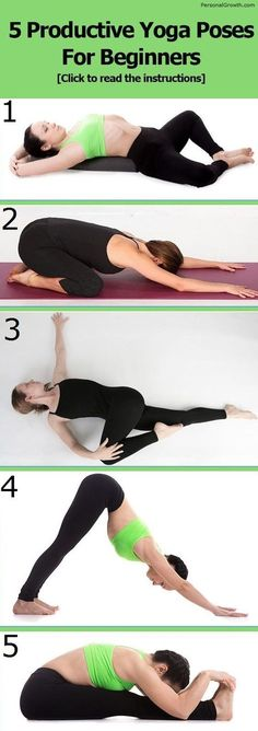 5 Productive Yoga Poses For Beginners #yogaposes http://iandarrah.com/