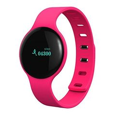 YOUNGFLY H18 Bluetooth Smart Wristband Bracelet Band with Heart Rate Monitor for Android IOS, Rose Red. Bracelet type, more convenient while you are doing sports. Silicone material, safe and comfortable to wear. Anti-lost and stylish, convenient and helpful to use. Could record calculation step, energy consumption monitoring, speed record, mileage of distance, reminding of calling and message, and monitoring in sleep,Heart Rate Tracker. Intelligent silent alarm, never disturb other.