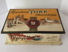 Vintage Rowntree's York Chocolates Cardboard Box + Lid - Empty!