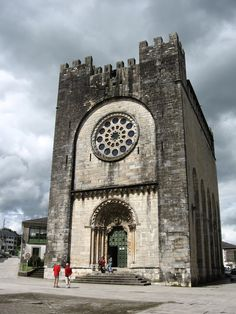 Portomarín --this church was moved from the valley below stone by stone.  Each  one was numbered and then transported by hand by pilgrims on the camino to be rebuilt in the new Portomarin