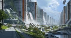 """cyrail:  """" Canyon city 01 by 2buiArt  Featured on Cyrail: Inspiring artworks that make your day better  """""""