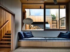 Sandy Point House by Kennedy Nolan Malvern House, Noguchi Lamp, Kennedy Nolan, Architects Melbourne, Loft, Sustainable Design, House In The Woods, My New Room, Lounge
