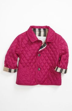 Burberry 'Colin' Quilted Coat (Baby Girls) | Nordstrom