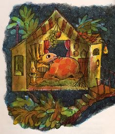 Miss Suzy - illustrated by Arnold Lobel - Sleeping in Treehouse
