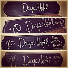 Days Until Wooden Chalkboard Countdown Home Decor Sign