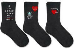 #Custom #Wedding Valentine Love Socks For Men - Set of 3 Pairs by sockprints on hatch   Hatch.co