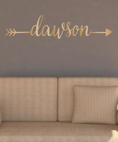 Look what I found on #zulily! Gold Arrow Personalized Wall Decal #zulilyfinds