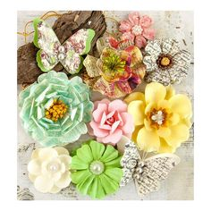 Набор цветов Garden Fable Mulberry Paper Butterfly & Flower Mix - Biennial, 10шт | MagicBox