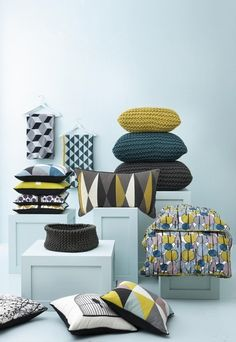 So you are stuck with dull furniture the landlord provided. Turn up the colour with cheap and cheerful throw pillows. Super easy to change the look of the room.