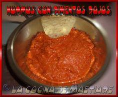 La cocina de Maetiare: Hummus con pimientos rojos