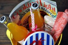 pool side gift baskets